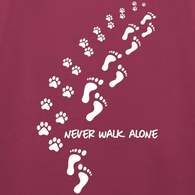 Vorschau: never walk alone dog - Kinder Premium Hoodie