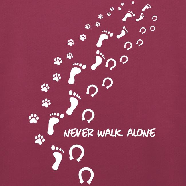 Vorschau: never walk alone hund pferd - Kinder Premium Hoodie