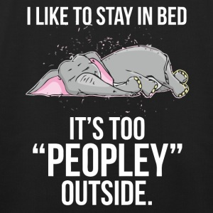 I like to stay in bed Elephant shirt - Kids' Premium Hoodie