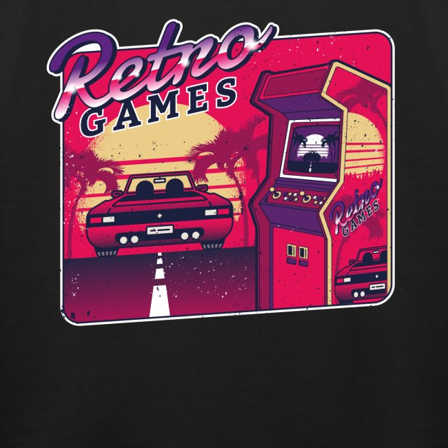 Retro Vintage Games Gaming Arcade Spiel