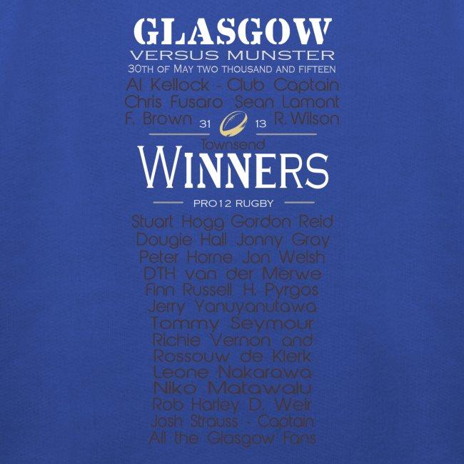 PRO12 Winners Glass