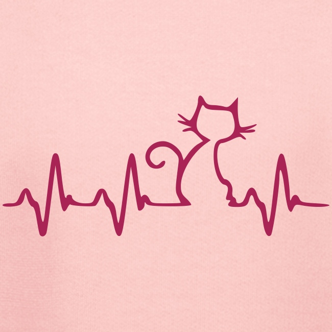 Vorschau: Cat Heartbeat - Kinder Premium Hoodie