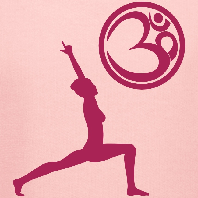 Der Held Yoga Asana Warrior mit OM Symbol Cool