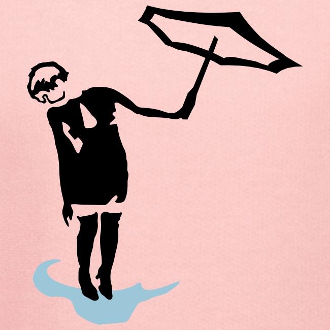 Regenschirmfrau