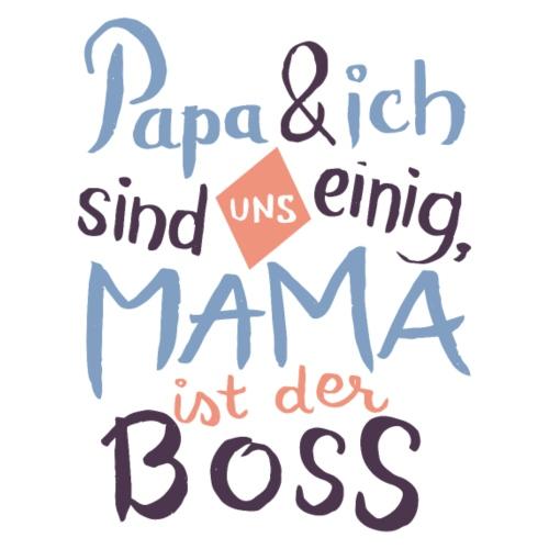 Mama ist der Boss - Kinder Premium Hoodie