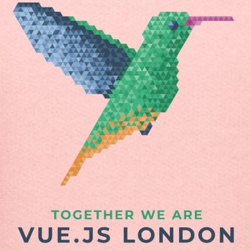 Hummingbird - Together we are Vue.js London - Kids' Premium Hoodie