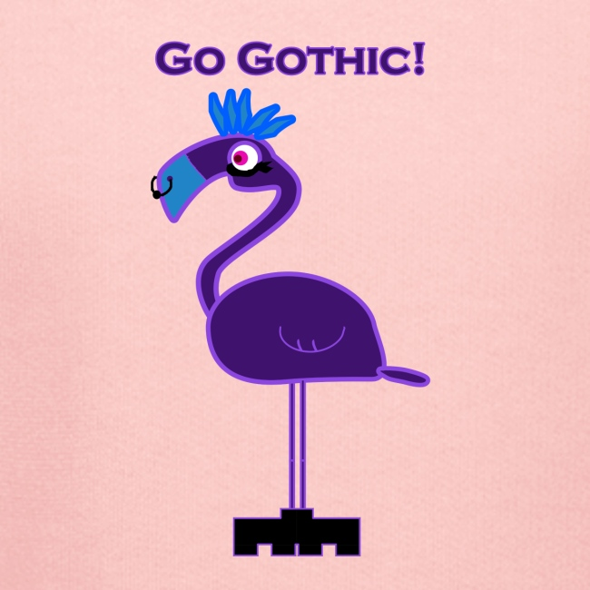 """""""Go Gothic"""" Dark Flamingo!"""