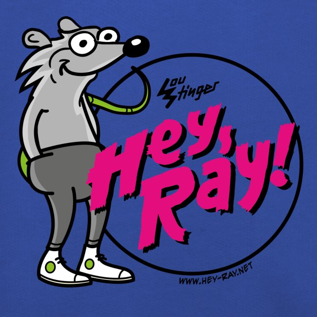 Hey Ray! Logo magenta