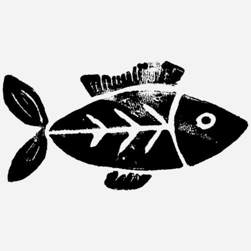 Fisch | Fish | Kunstdruck | Linoldruck - Kinder Premium Hoodie