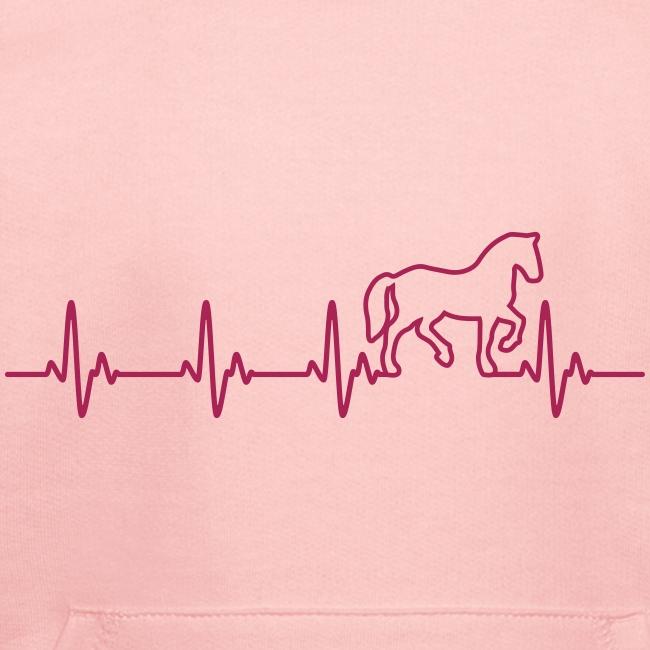 Vorschau: Horse Heartbeat - Kinder Premium Hoodie