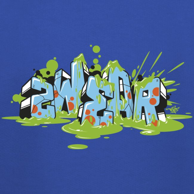 2wear blue graffiti Block Splash - blk logo