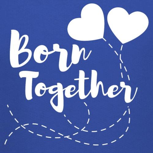 Born together Geschwister Zwillinge Partnerlook - Kinder Premium Hoodie