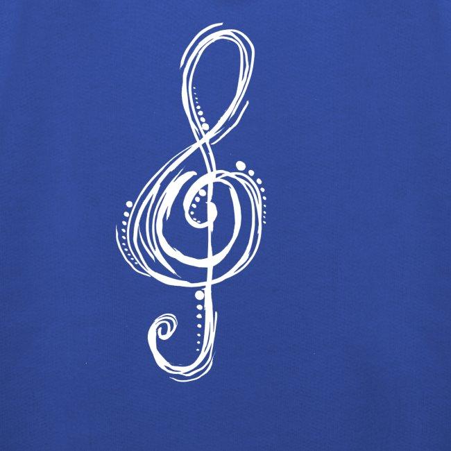 Violinschlüssel weiß