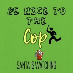 Be nice to the cop because Santa is watching - Kids' Premium Hoodie