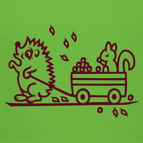 Igel mit Handwagen und Eichhörnchen - Kinder Premium Hoodie