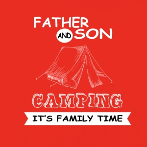 Father And Son - Camping - Kids' Premium Hoodie