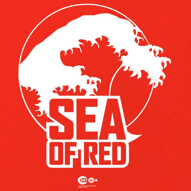 Sea of red logo - white small