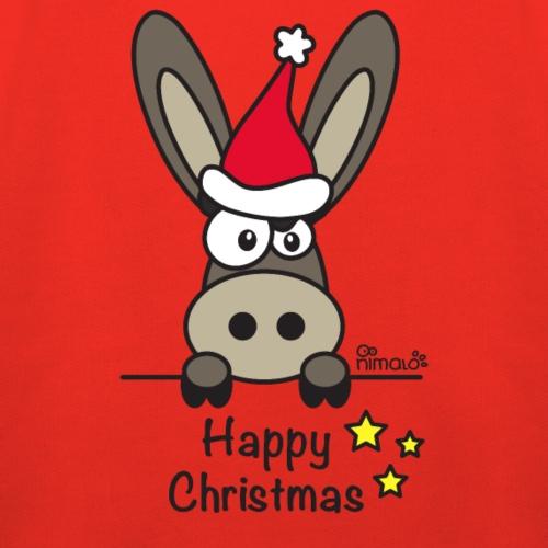 Âne, Noël Happy Christmas - Pull à capuche Premium Enfant