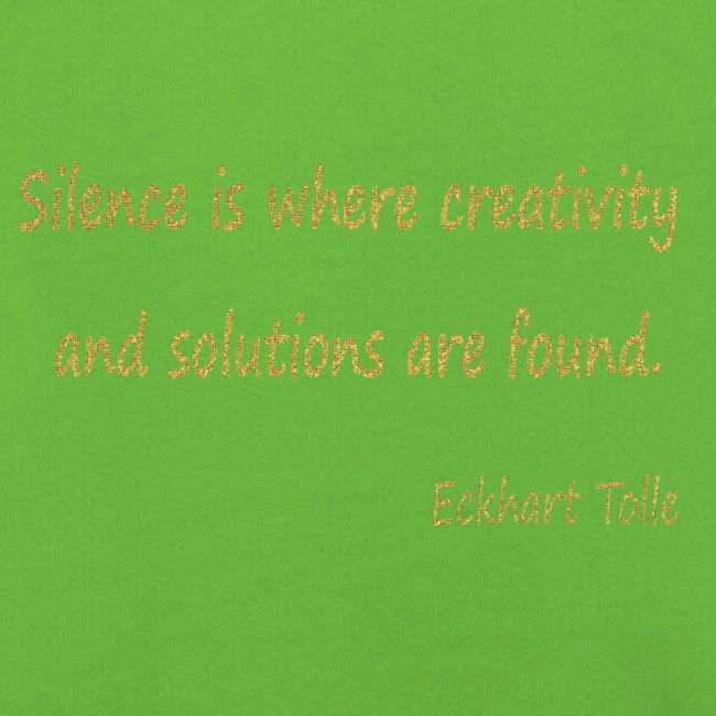 Silence and Creativity
