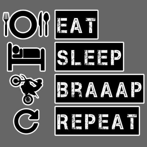 Eat Sleep Braaap Repeat - Premium-Luvtröja barn