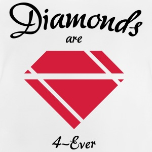 Diamanter är 4-Ever - Baby-T-shirt