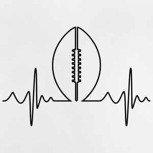 American Football Heartbeat - Baby T-Shirt