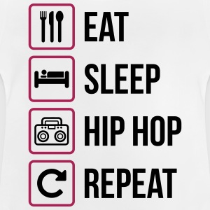 Eat Sleep Hip Hop Repeat - Maglietta per neonato