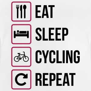 Eat Sleep Cycling herhalen - Baby T-shirt