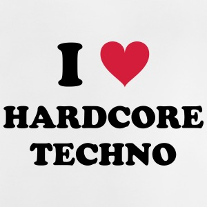 I LOVE hard-core TECHNO - Baby T-shirt