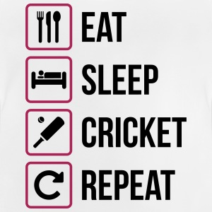 Eat Sleep Cricket Gentag - Baby T-shirt