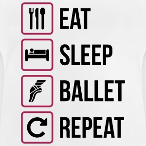 Eat Sleep Ballet Repeat - Maglietta per neonato