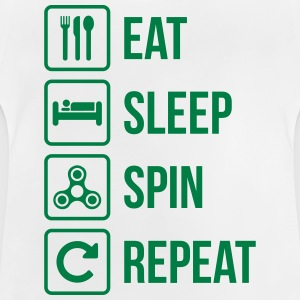 Eat Sleep Spin Repeat - Baby T-Shirt