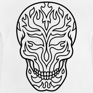 Flaming sugarskull - Baby T-Shirt