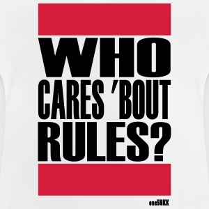Who cares bout regels - Baby T-shirt