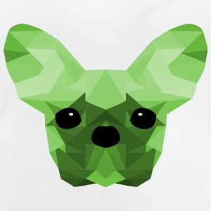 French Bulldog verde Low Poly design - Maglietta per neonato