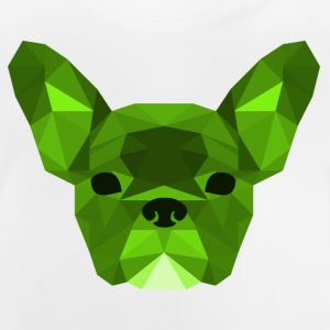 Low Poly Frenchie groen - Baby T-shirt