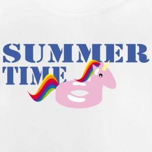 Summerime Unicorn - Baby-T-shirt