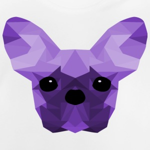 French Bulldog lilla Low Poly design - Maglietta per neonato
