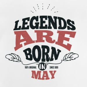 Legends are born in May birthday gift - Baby T-Shirt