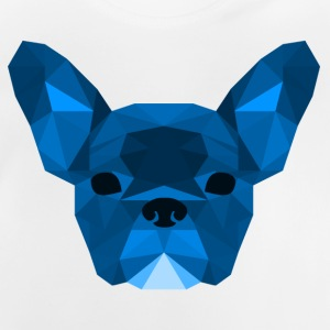 blu Low Poly Frenchie - Maglietta per neonato