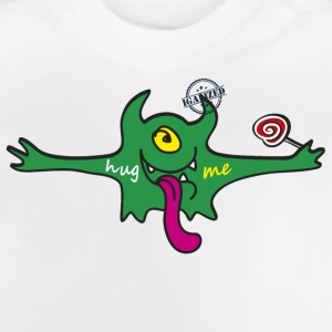 """Hug me"" Monsters Every little monster needs a hug - Baby T-Shirt"