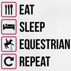 Eat Sleep Equestrian Repeat - Baby T-Shirt