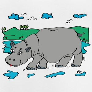 Hippo Illustration - T-shirt Bébé