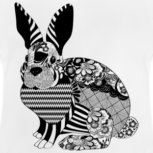 Floral Bunny - Baby T-Shirt