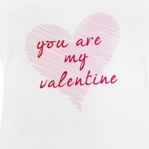 scribble love you are my valentine heart drawing - Baby T-Shirt