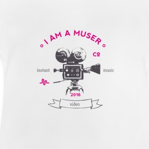 muser_kamera Vintage old love video app music - Baby T-Shirt