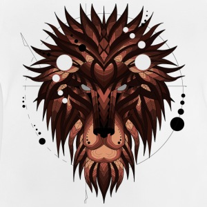 Geometric Lion (Marron) - T-shirt Bébé