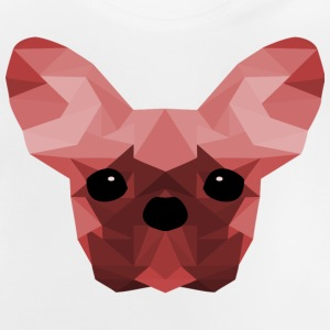 French Bulldog Low Poly Design red - Baby T-Shirt