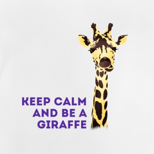 giraffe Keep Calm neck long africa animal cute - Baby T-Shirt