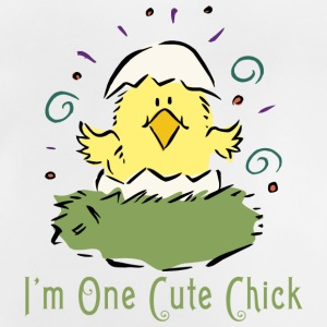 Påske I Am One Cute Chick - Baby T-shirt